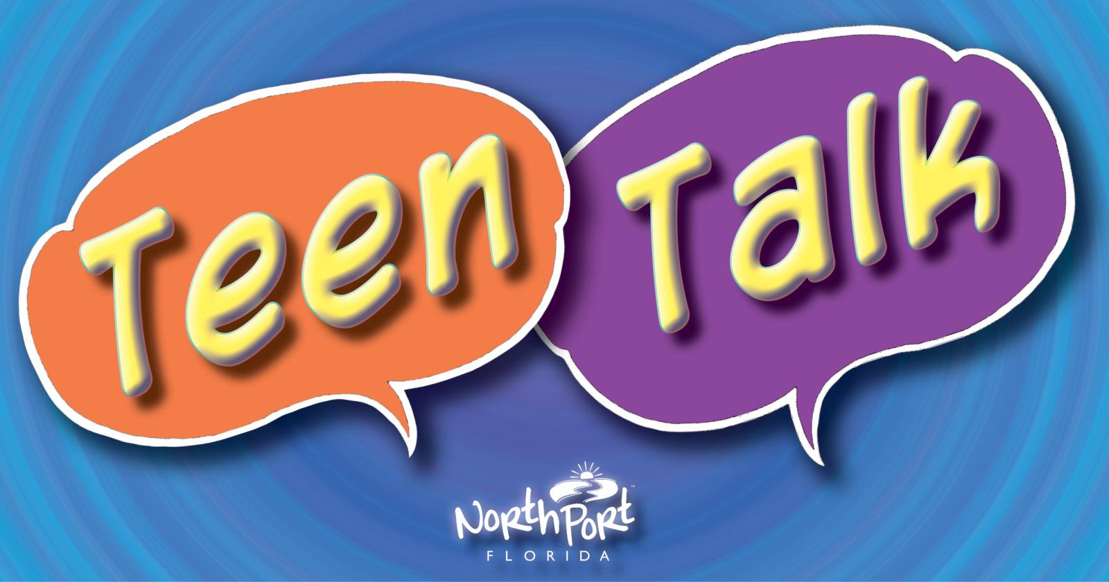 Teen Talk illustration with two talk bubbles and the words Teen Talk
