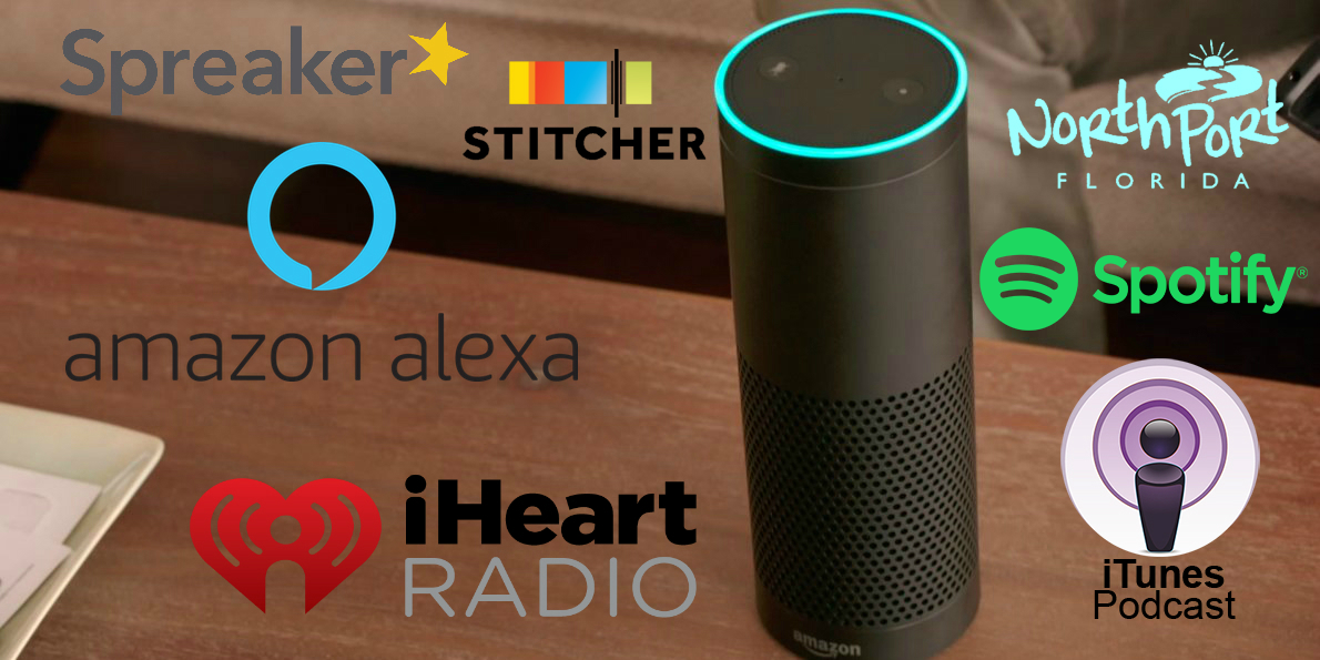alexa graphic icons with spotify