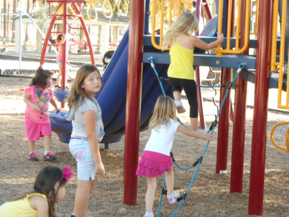 DWP kids on playground