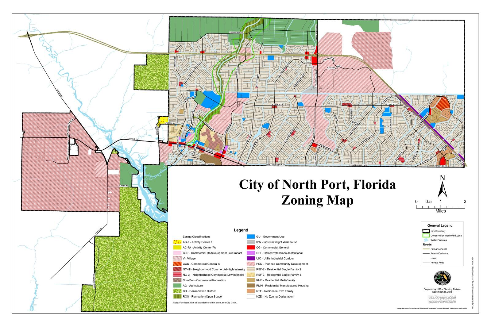 Maps North Port FL - Map of florida city