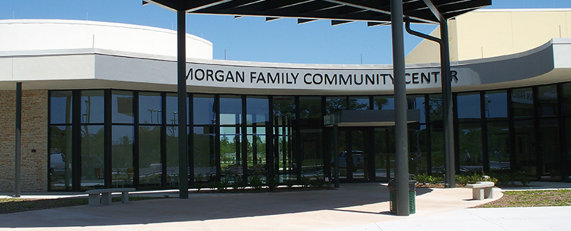 Exterior of the Morgan Family Community Center