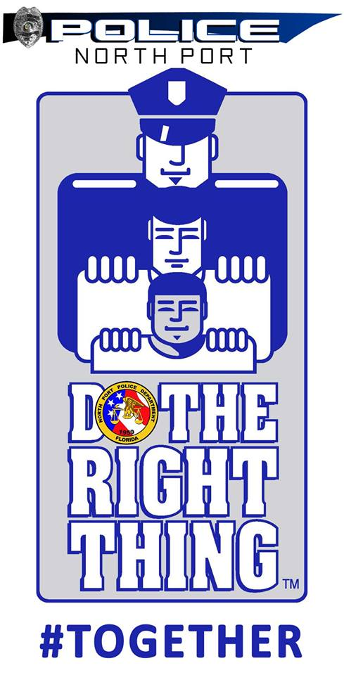 Do the right thing logo with police header #together