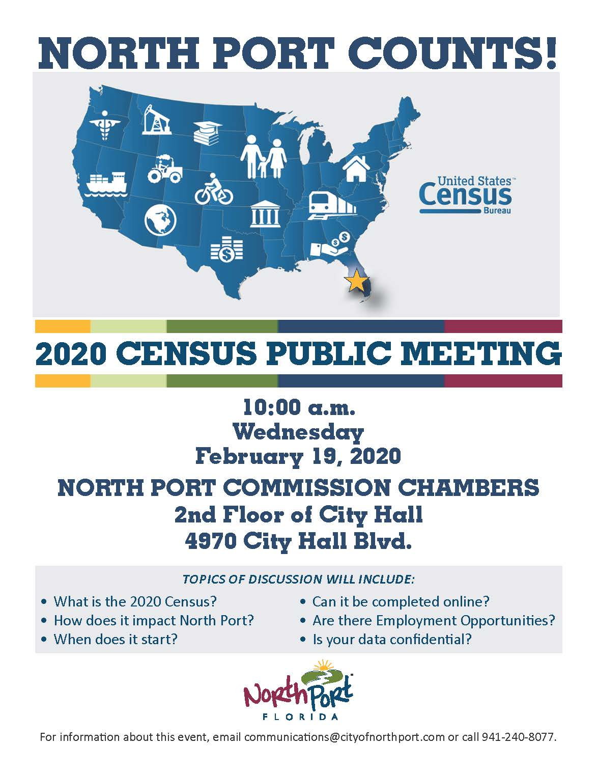 2020 Census Public Meeting on February 19, 2020 Flyer