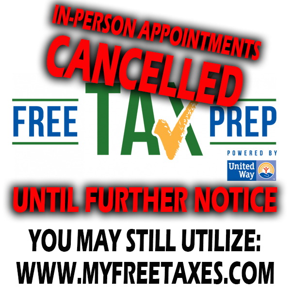 Free Tax Prep - cancelled