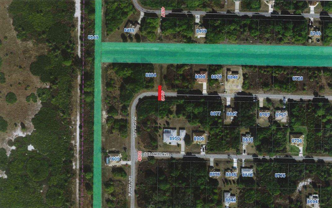 Map of Leopold Avenue road closure scheduled for 3-25-20