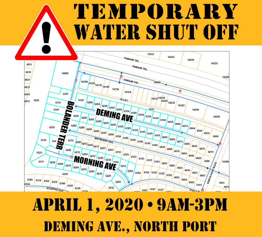 Temporary Water Shut Off - Deming - 040120