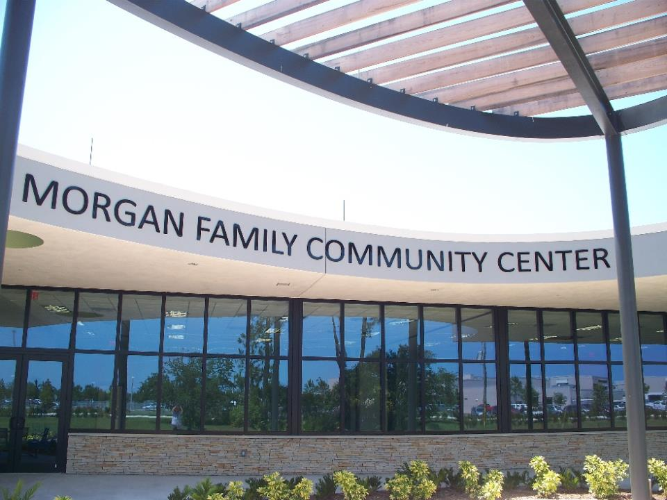 The exterior of the Morgan Family Community Center