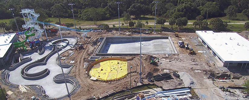 Aerial View of the North Port Aquatic Center Construction Site in North Port, FL